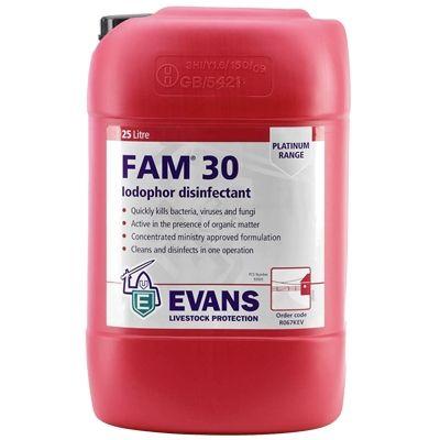 EVANS FAM30 25l (skystis) dezinfekcinė priemonė