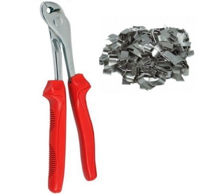 Wide pliers/tong for flat clips